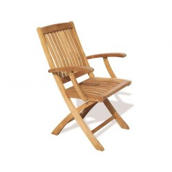 Bali Fold-up Garden Chair with arms, Teak wood