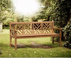 Princeton Chippendale Decorative Garden Bench – 1.8m