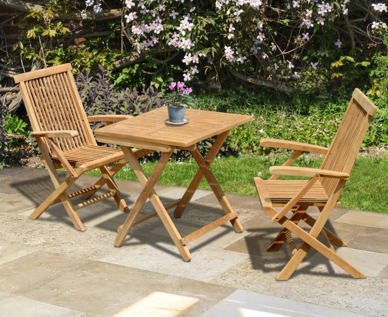 Rimini Square 0.7m Table & 2 Ashdown Armchairs
