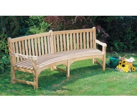 Connaught Benches | Teak Curved Garden Benches