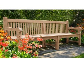Large Wooden Benches | 6 Seater Garden Benches | Teak Wood Bench