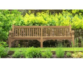 Hardwood Benches | 8ft Wooden Benches | Teak Garden Seating