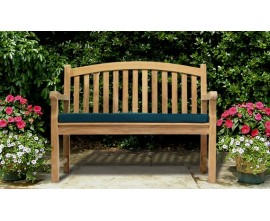 Curved Garden Benches | Curved Outdoor Benches | Teak Peanut Benches