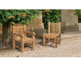 Balmoral Chairs | Chunky Garden Chairs | Teak Dining Chairs