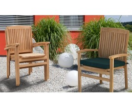 Stacking Garden Chairs | Stackable Dining Chairs | Teak Stacking Chair