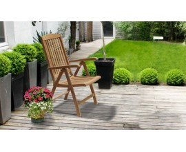 Reclining Garden Chairs|Outdoor Recliner Chairs|Teak Reclining Chairs