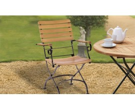 Strong Garden Chairs   Teak Wood and Metal Chairs