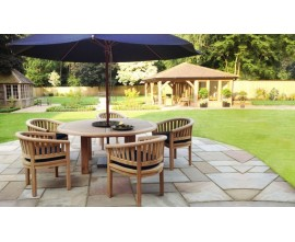 Solid Wood Dining Set|Chunky Garden Table & Chairs|Hardwood Dining Set