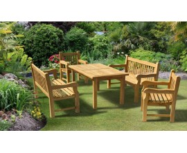 Solid Garden Table and Chairs | Balmoral Teak Dining Sets