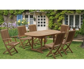 Teak Extending Tables|Expandable Outdoor Tables|Extending Garden Table