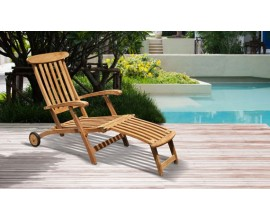 Garden Deck Chairs | Reclining Deck Chairs | Teak Steamer Deck Chairs