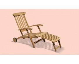 Garden Deck Chair |Outdoor Sun Lounger |Poolside Lounger |Teak Lounger