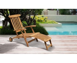 Teak Garden Steamer Chairs | Wood Steamer Loungers | Wood Deck Chairs