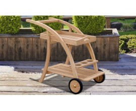 Wooden Serving Trolleys | Garden Serving Trolley | Teak Drinks Trolley