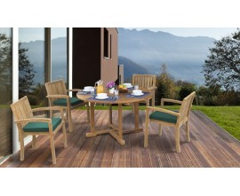 Garden Table & Stacking Chairs Set | Dining Sets with Stackable Chairs