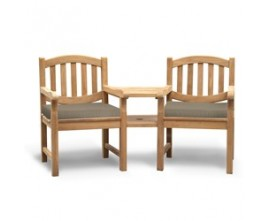 Outdoor Loveseats | Teak Companion Seats | Jack and Jill Seats