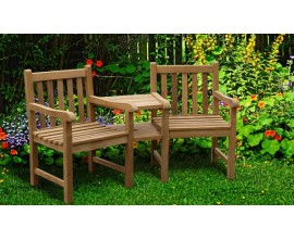 Garden Love Chairs | Tête-à-Tête Benches | Teak Kissing Bench