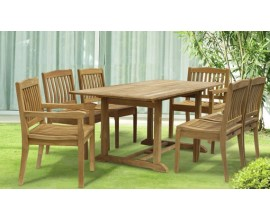 6 Seat Garden Table & Chairs | 6 Seat Patio Set | Garden Furniture Set