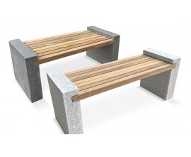 Granite Benches | Gallery Benches | Granite and Teak Benches
