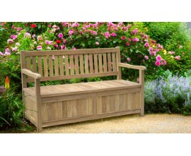 Garden Storage Benches | Outdoor Storage Benches | Teak Storage Bench