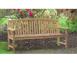 Large Garden Benches | 4 Seater Benches | Teak Outdoor Benches