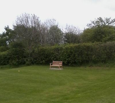 teak memorial bench