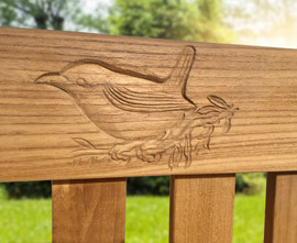 Memorial Benches | Commemorative Bench | Wood Carving