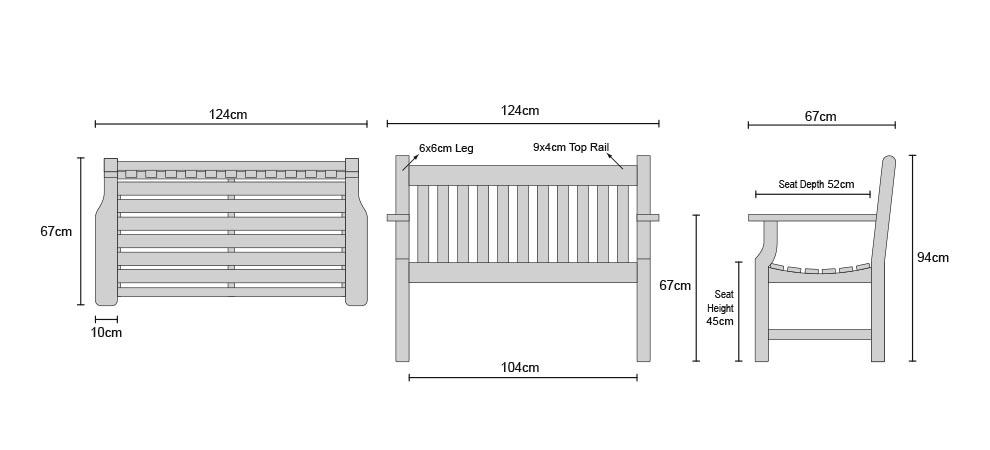 Superb Taverners Teak 4Ft Solid Wood Garden Bench 1 2M Baiders Lamtechconsult Wood Chair Design Ideas Lamtechconsultcom
