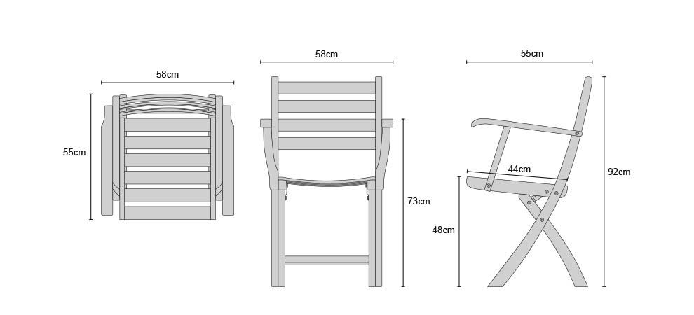 Suffolk Outdoor Wood Folding Chair Teak