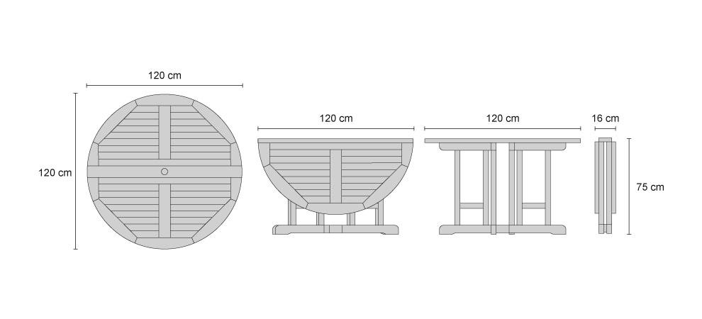 Dining Table For 20 Dimensions: Berrington Round Gateleg Teak Dining Set With Folding