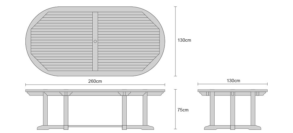 Dining Table For 20 Dimensions: 8 Seater Patio Set With Hilgrove Oval Table 2.6m & Monaco