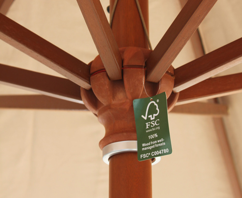 our hardwood parasols are certified by the FSC
