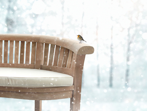 teak furniture can be left in the garden in winter