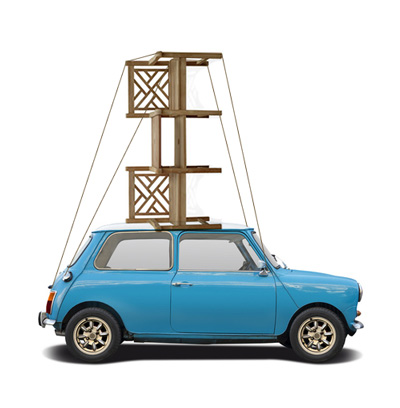 Teak Furniture Collection Mini Car rooftop