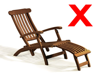 we don't recommend oiling your teak furniture