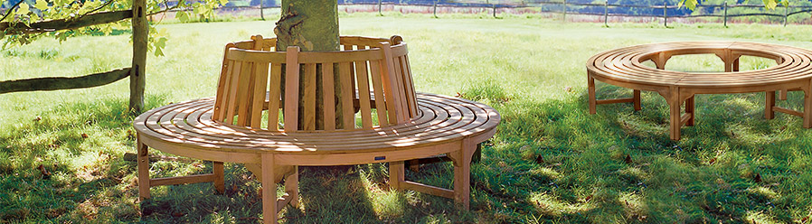 Teak Tree Seats and Backless Tree Benches