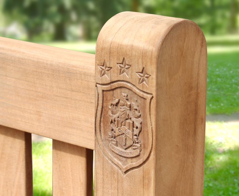 engraved memorial bench